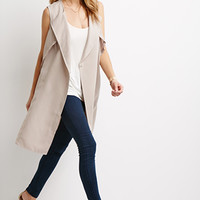 Dropped-Lapel Trench Vest