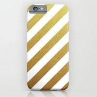 diagonal - gold  iPhone & iPod Case by Her Art