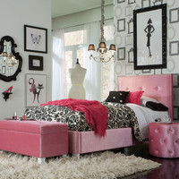 Standard Furniture Young Parisian 3 Piece Kids' Bedroom Set in Pink