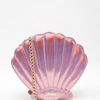 Pink | Skinnydip Mermaid Shell Crossbody Bag in Pink at ASOS