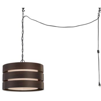 "1-Light 14.5"" Oil Rubbed Bronze Swag Chandelier"