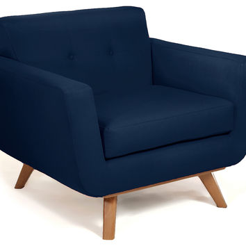 Lovely Hemming Modern Chair, Navy, Club Chairs