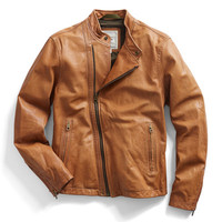Brown Moto Leather Jacket