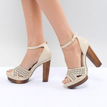 Miss Selfridge Heeled Studded Clog at asos.com