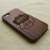 wood iPhone 5 case, wood iPhone 5S case, wooden iPhone 5 case, The Fault in our stars, iPhone 5S case, wooden iPhone case, W2014
