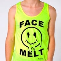 "Rave Shirts - ""Face Melt"" - Men's Neon Tanks and Tees - Bad Kids Clothing – Bad Kids Clothing"