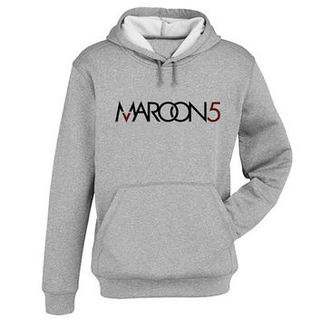 maroon5 logo Hoodie Sweatshirt Sweater Shirt Gray and beauty variant color for Unisex size