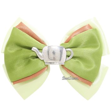 Licensed cool Over the Garden Wall GREG Frog Teapot Cosplay Costume Hair Bow Pin Clip NEW