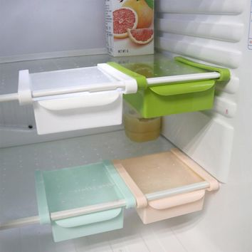4 Colors Refrigerator Storage Rack Drawer Pull-and-Push Style