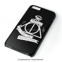Deathly Hallows Harry Potter iPhone 4 4S 5 5S 5C 6 6 Plus , iPod 4 5  , Samsung Galaxy S3 S4 S5 Note 3 Note 4 , and HTC One X M7 M8 Case