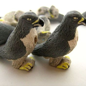 4 Large Peregrine Falcon Beads