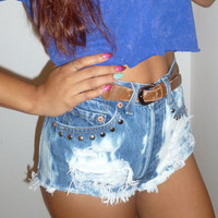 BOYFRIENDS. ANY SIZE Vintage High Waisted Denim Shorts