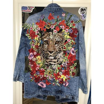 NEW Vintage ROAR Denim Jacket.