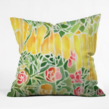 Rosie Brown Tiffany Inspired Throw Pillow