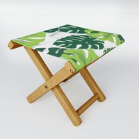 Monstera Marble Folding Stool by littlebiscuit