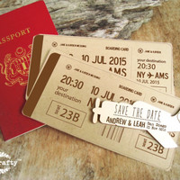 Save The Date Wooden Vintage Airplane Fridge Magnet Engraved Destination Wedding Gift invitation Decoration Bridal Pack of 30 / 50