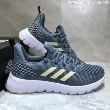 AUGUAU A488 Adidas Low Shock Non-skid Casual Running Shoes Grey Gold