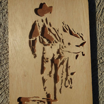 Wooden Cowboy Portrait