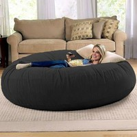 Jaxx Cocoon 6 ft Foam Bean Bag Chair, Microsuede