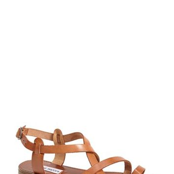 Women's Steve Madden 'Agathist' Leather Ankle Strap Sandal,