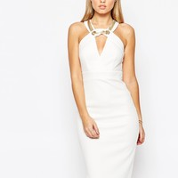 TFNC Midi Bodycon Dress with Chain Detail at asos.com