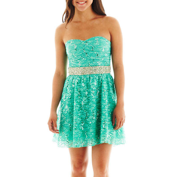 My Michelle Sequin Lace Dress - JCPenney From JCPenney