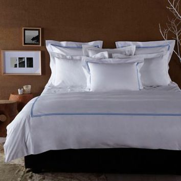 Frette At Home Piave Pillow Sham in White/Blue