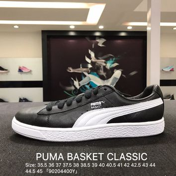 Puma Suede Classic Basket Black White Casual Shoes Sneaker - 362892-21
