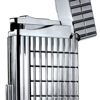 S.T. Dupont Gatsby Intersected Lines, Silver Plate Lighter