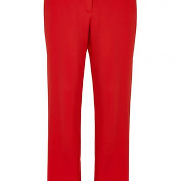 Tibi Stretch Faille Cropped Beatle Pants