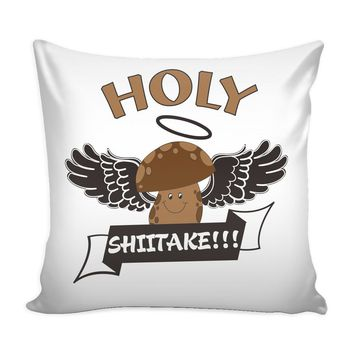 Funny Cooking Chef Graphic Pillow Cover Holy Shittake
