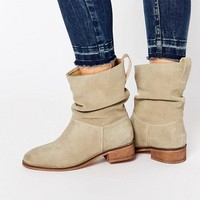ASOS ANIKA Wide Fit Suede Pull On Ankle Boots at asos.com