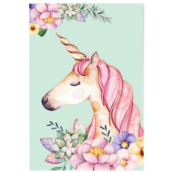 Nordic Cartoon Animals Unicorn Canvas Painting Wall Art Poster And Print Wall Pictures For Kids Rooms Home Decor No Frame