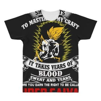 To Be Called A Super Saiyan All Over Men's T-shirt