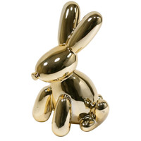 Made By Humans Balloon Bunny Munny Bank - Gold