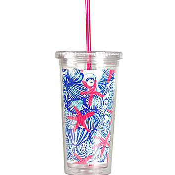 Lilly Pulitzer She She Shells Tumbler With Straw - She She Shells