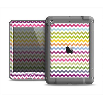 The Colorful Chevron Pattern Apple iPad Mini LifeProof Nuud Case Skin Set