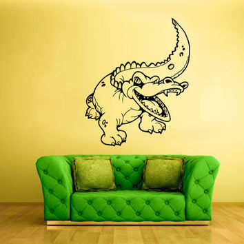 rvz1516 Wall Vinyl Sticker Decals Decor Alligator Crocodile Croc Thailand Skin