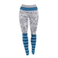 "Trebam ""Odvojen"" Blue Gray Yoga Leggings"