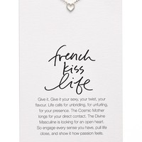 Women's Dogeared 'Danielle LaPorte Truthbombs - French Kiss Life' Necklace