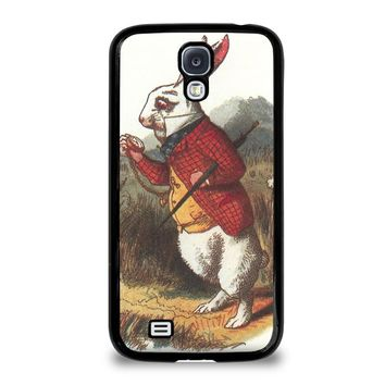 WHITE RABBIT ALICE IN WONDERLAND Disney Samsung Galaxy S4 Case Cover