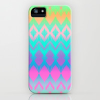 Rainbow Ikat iPhone & iPod Case by micklyn