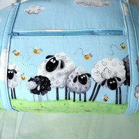 Diaper Bag With Sheep and Bees