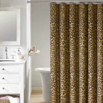 Walmart: Mainstays Animal Skin Leopard Shower Curtain, Gold