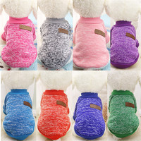 Warm Dog Coats Puppy Clothes Sweater Jacket for Small Dog Vest Shirts Yorkie Clothes Autumn Winter New Pet Products 5