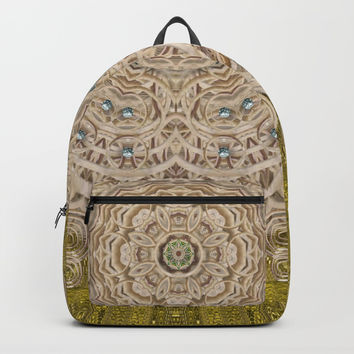 Silent in the forest of  wood pop art Backpack by Pepita Selles