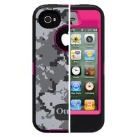 Otterbox Defender Cell Phone Case for iPhone®4/4S - Pink camo (77-18634P1)