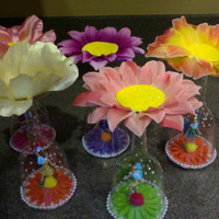 FAIRIES AND FIREFLIES...(set of 4) regular sized cupcake stands