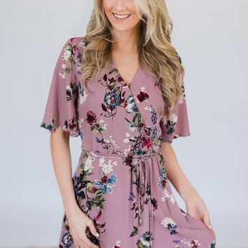 Wildflower Beauty Dress- Mauve