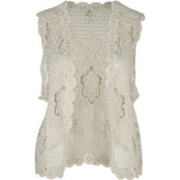 EYESHADOW Flower Crochet Womens Vest 198980151 | Jackets & Vests | Tillys.com